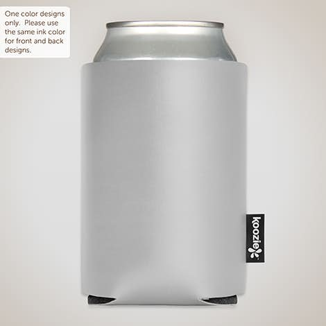 Deluxe Vinyl Foldable Can KOOZIE ® - Silver