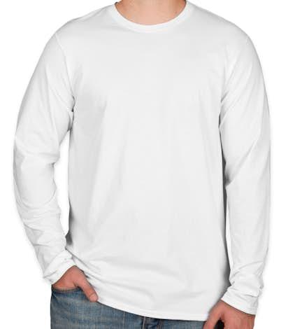 Hanes Long Sleeve Nano-T - White