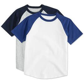 Sport-Tek Youth Short Sleeve Baseball Raglan