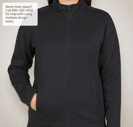 Devon & Jones Ladies Full Zip Sweater Fleece Jacket - Color: Navy
