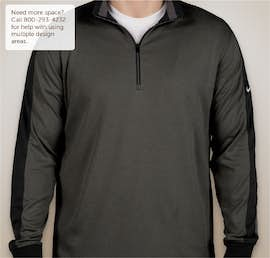 Nike Golf Dri-FIT Half Zip Performance Pullover - Color: Black Heather / Black