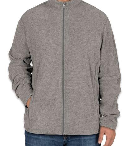 Port Authority Heather Microfleece Full Zip Jacket - Pearl Grey Heather