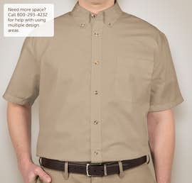 Featherlite Short Sleeve Stain Resistant Twill Shirt - Color: Sandalwood / Stone