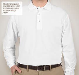 Port Authority Silk Touch Long Sleeve Polo - Color: White