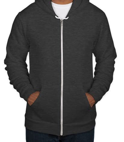 American Apparel USA-Made Flex Fleece Zip Hoodie - Dark Heather Grey