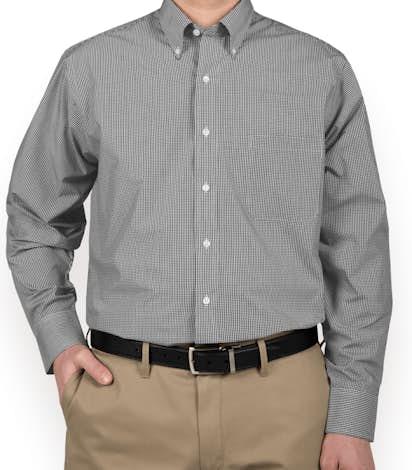Custom van heusen gingham dress shirt design button down for Van heusen dress shirts