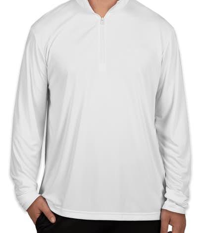 Sport-Tek Posicharge Competitor Quarter Zip Performance Shirt - White