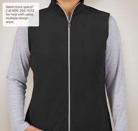 Port Authority Ladies Microfleece Vest - Color: Black
