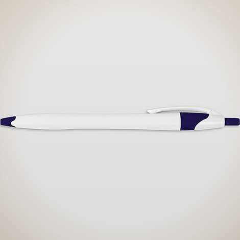 Cougar Promotional Pen (black ink) - White / Blue