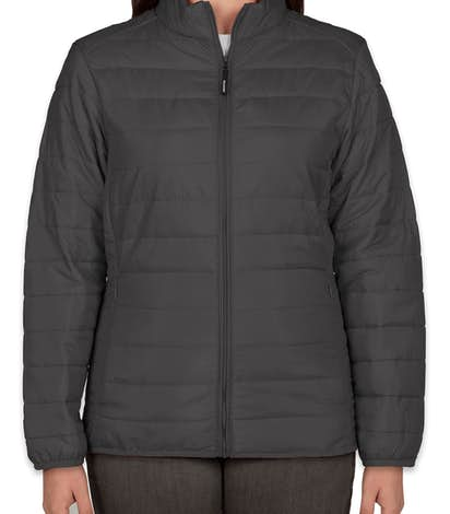 Core 365 Ladies Insulated Packable Puffer Jacket - Carbon