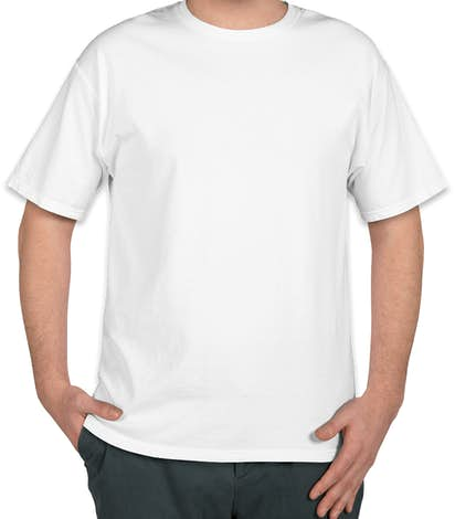 Hanes Garment Washed 100% Cotton T-shirt - White