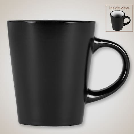 12 oz. Ceramic Two-Tone Noir Mug - Black / White
