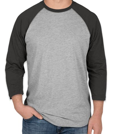LAT Baseball Raglan - Vintage Heather / Vintage Smoke