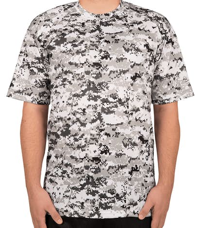 Badger Digital Camo Performance Shirt - White Digital
