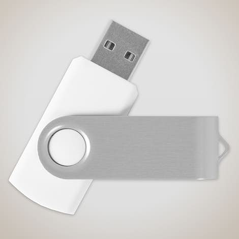 Rotate USB Flash Drive 8GB - White