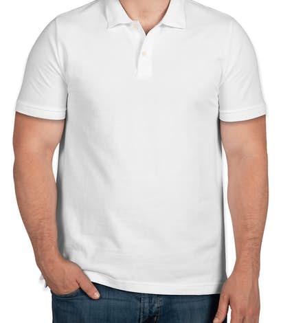 GAP Cotton Pique Polo - White