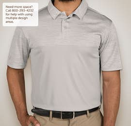 Augusta Tonal Heather Performance Polo - Color: Silver
