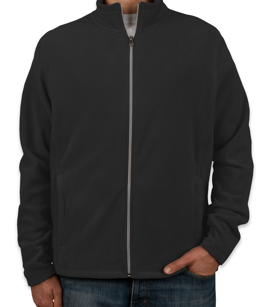 Custom Port Authority Full-Zip Microfleece Jacket - Design Fleece ...