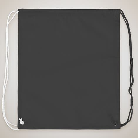 Spirit Two-Tone Drawstring Bag - Black / White