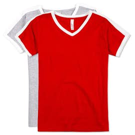 LAT Ladies Soccer V-Neck T-shirt