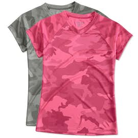 Champion Ladies Camo V-Neck Performance Shirt