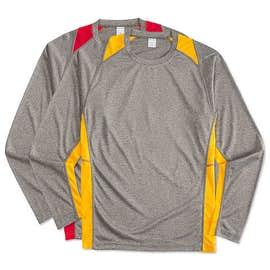 Sport-Tek Long Sleeve Heather Colorblock Performance Shirt