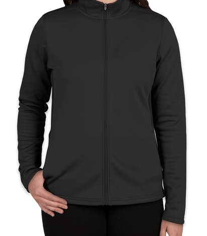 Champion Ladies Performance Full Zip Jacket - Black / Black