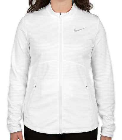 Limited Edition Nike Ladies Performance Full Zip Jacket - White / Cool Grey