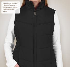 Port Authority Ladies Puffy Vest - Color: Black / Black