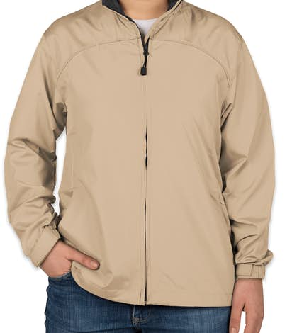North End Ladies Full Zip Hooded Jacket - Putty