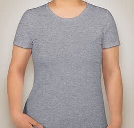 Fruit of the Loom Ladies 100% Cotton T-shirt - Color: Athletic Heather