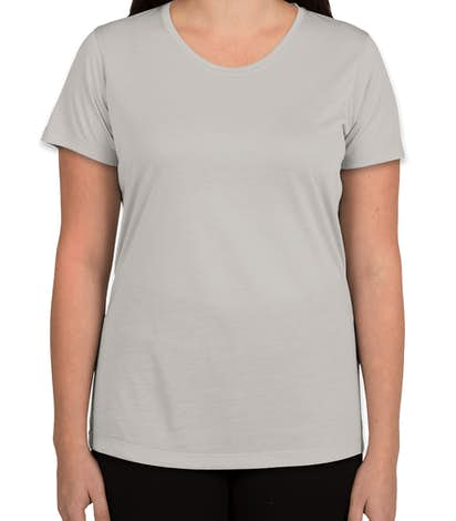 Sport-Tek Ladies Soft Jersey Performance Shirt - Silver