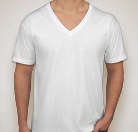American Apparel Jersey V-Neck T-shirt - Color: White
