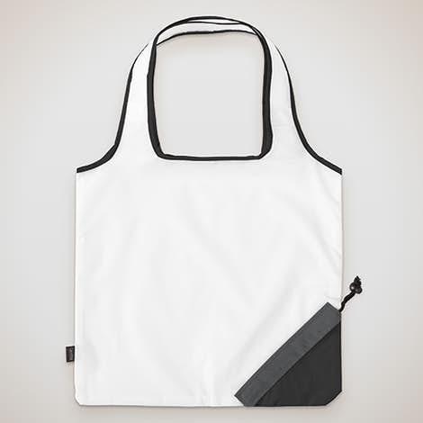 Contrast Foldaway Shopper Tote - White / Black
