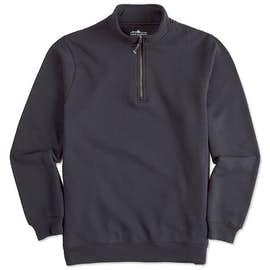 Charles River Pocket Quarter Zip Sweatshirt - Screen Printed