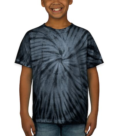 Dyenomite Youth 100% Cotton Tonal Tie-Dye T-shirt - Black