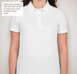 Cutter & Buck Ladies Advantage Charged Cotton Polo - Color: White