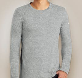Nike 100% Cotton Long Sleeve T-shirt - Color: Dark Grey Heather