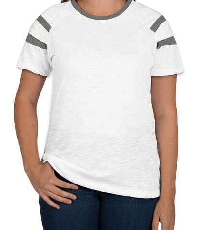 Augusta Ladies Fanatic T-shirt - White / Slate / White