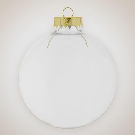 Glass Tree Ornament - Clear