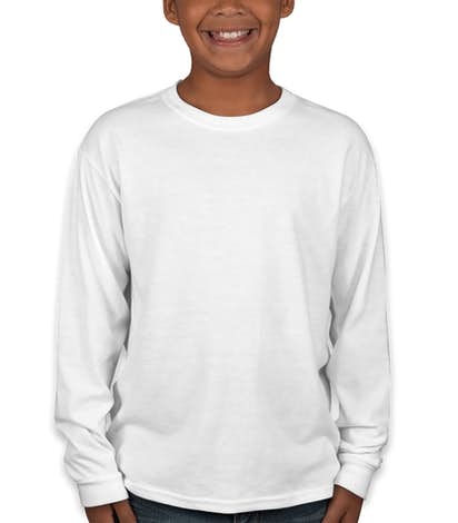 Jerzees youth 50 50 long sleeve t custom kids longsleeve for Custom 50 50 t shirts