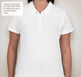 Port Authority Ladies Lightweight Classic Pique Polo - Color: White