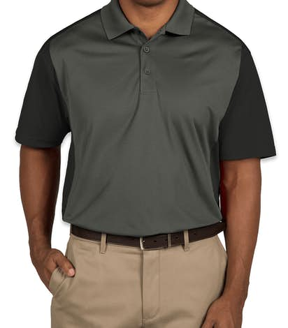 Sport-Tek Colorblock Performance Polo - Iron Grey / Black