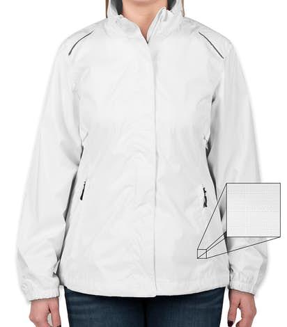 Core 365 Ladies Waterproof Ripstop Jacket - White