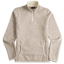 Charles River Ladies Quarter Zip Sweater Fleece Pullover