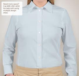 Devon & Jones Ladies Solid Dress Shirt - Color: Crystal Blue