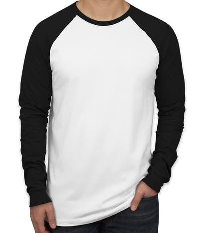 Canvas Long Sleeve Baseball Raglan - White / Black