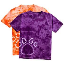 Dyenomite Youth Paw Print Tie-Dye T-shirt