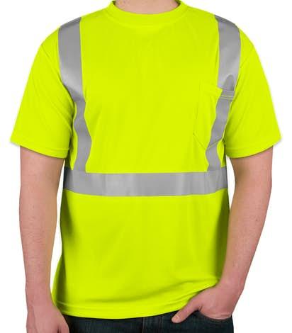 Custom ml kishigo class 2 performance safety shirt for Custom hi vis shirts