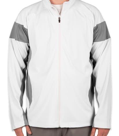 Team 365 Performance Warm-Up Jacket - White / Sport Graphite
